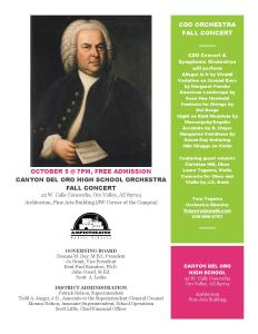 CDO Orchestra Concert Oct. 5
